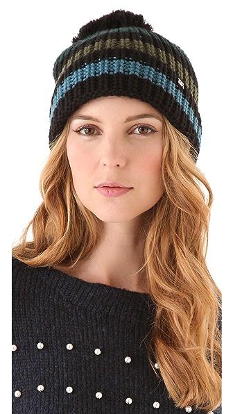 Sonia Rykiel Striped Pompom Hat