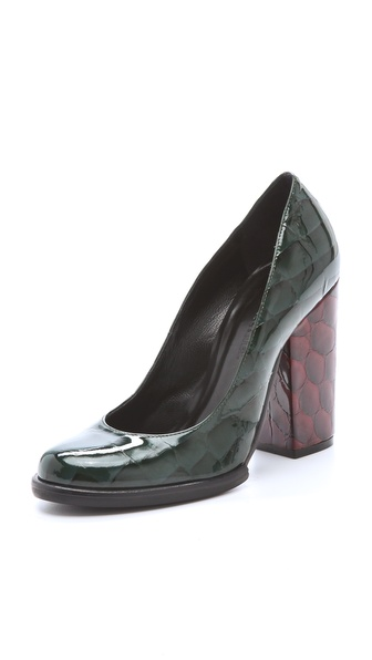 Sonia Rykiel Croc Patent Pumps