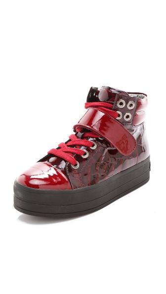 Sonia Rykiel Croc Print Patent Sneakers