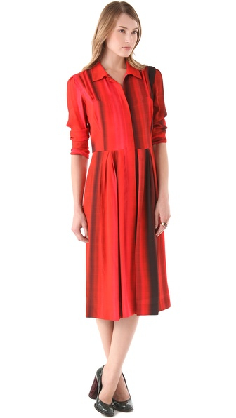 Sonia Rykiel Zip Front Printed Dress