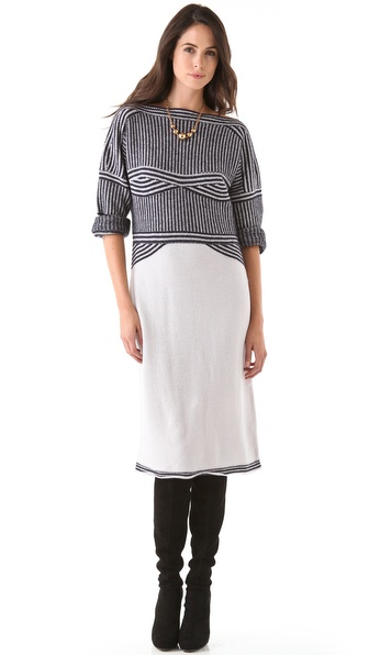 Sonia Rykiel Graphic Sweater Dress