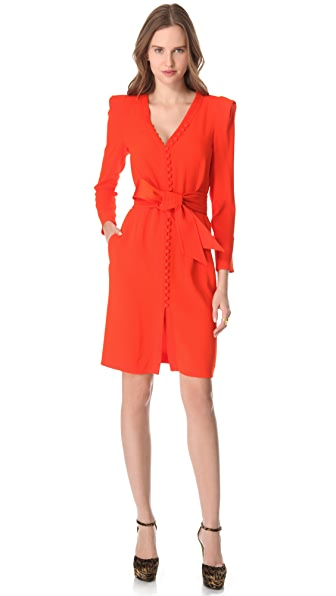 Sonia Rykiel Button Crepe Dress