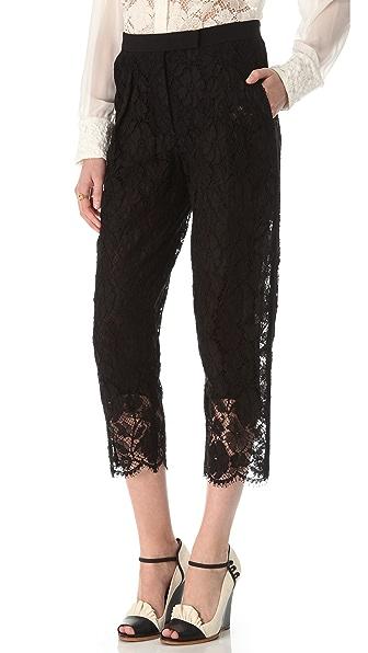Sonia Rykiel Cropped Lace Pants
