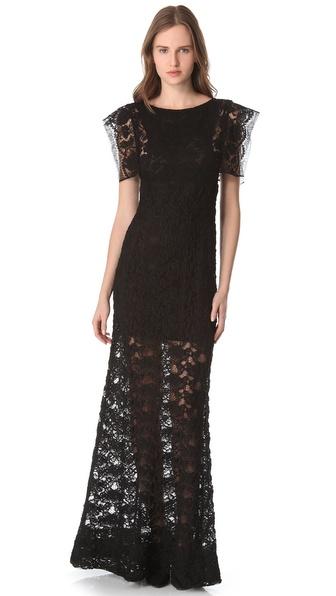 Sonia Rykiel Lace Maxi Dress