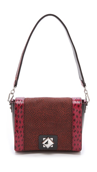 Sonia Rykiel Snakeskin Combo Handbag