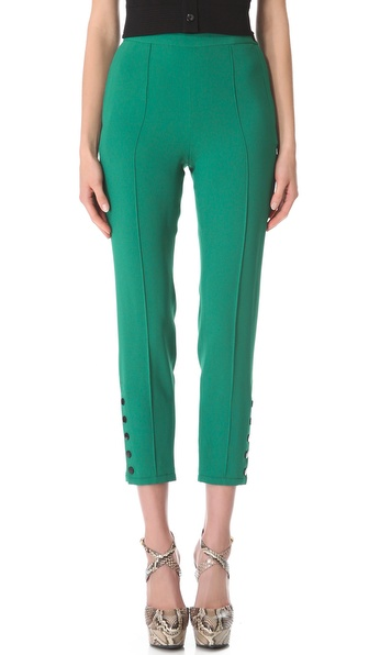 Sonia Rykiel Satin Crepe Trousers