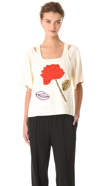 Sonia Rykiel Satin Crepe Top