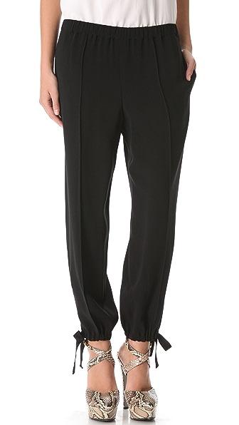 Sonia Rykiel Satin Crepe Tie Pants