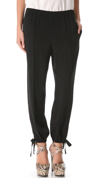 Sonia Rykiel Satin Crepe Tie Pants