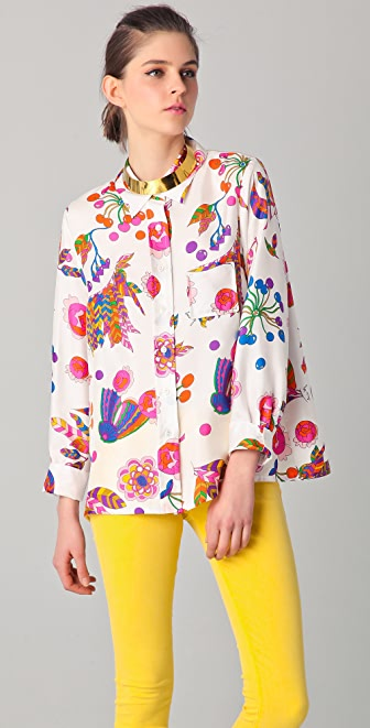 Sonia by Sonia Rykiel Art Deco Print Blouse