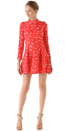Sonia by Sonia Rykiel Poplin Flower Dot Shirtdress