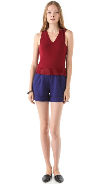 Sonia by Sonia Rykiel Sleeveless Sweater Romper