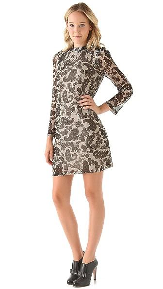Sonia by Sonia Rykiel Lace Print Shift Dress