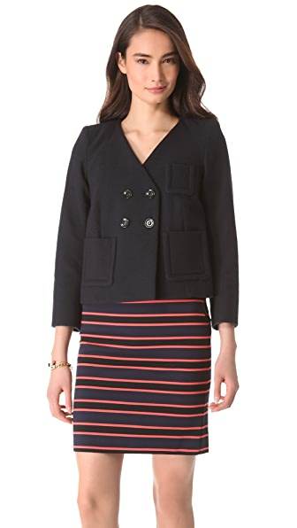 Sonia by Sonia Rykiel Crop Pea Coat