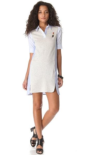 Sonia by Sonia Rykiel Cotton Combo Polo Dress