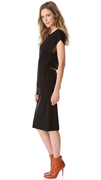 Sonia by Sonia Rykiel Layered Open Back Dress