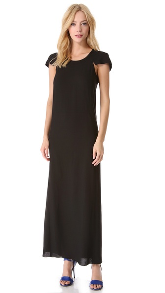 Sonia by Sonia Rykiel Cap Sleeve Maxi Dress