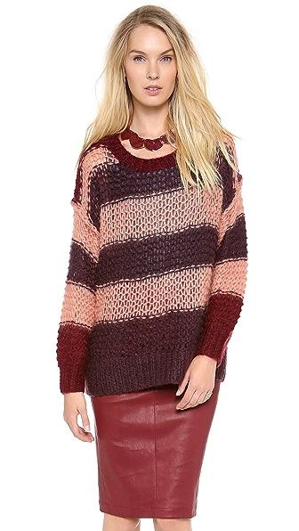 Sonia by Sonia Rykiel Striped Mohair Sweater