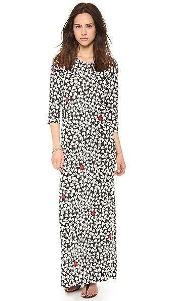 Sonia by Sonia Rykiel Printed Heart Maxi Dress