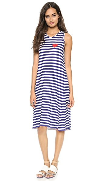 Sonia by Sonia Rykiel Striped Heart Dress