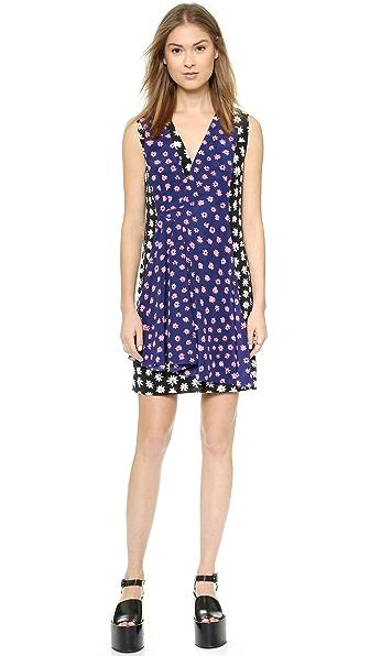 Kupi Sonia by Sonia Rykiel haljinu online i raspordaja za kupiti Sonia By Sonia Rykiel Printed Daisy Silk Dress Black-Multicolor online