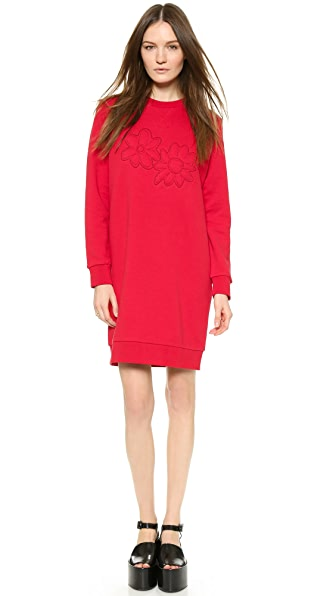 Kupi Sonia by Sonia Rykiel haljinu online i raspordaja za kupiti Sonia By Sonia Rykiel Flower Embroidered Dress Berry online