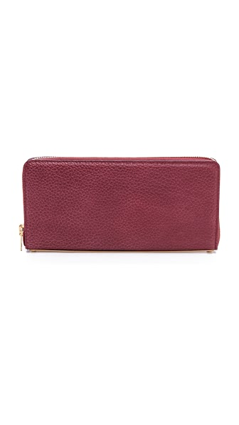 Sophie Hulme Long Gold Spine Wallet