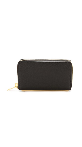 Sophie Hulme Mini Gold Spine Wallet