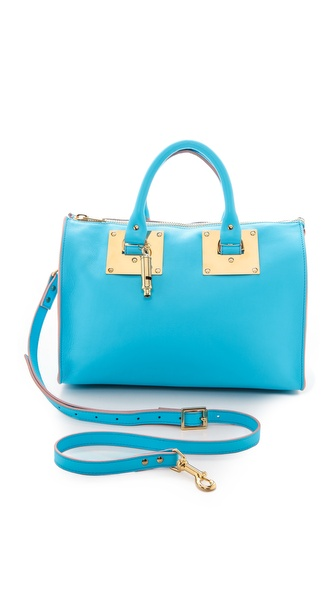 Sophie Hulme Mini Zip Top Bowling Bag - Capri Blue