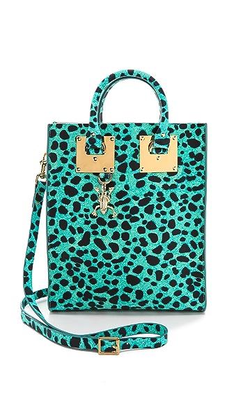Sophie Hulme Leopard Mini Tote Bag