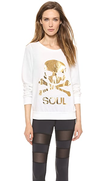 SoulCycle Skull Hacci Pullover