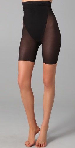 SPANX Haute Contour Sexy Sheer High Waisted Mid Thigh Bottoms