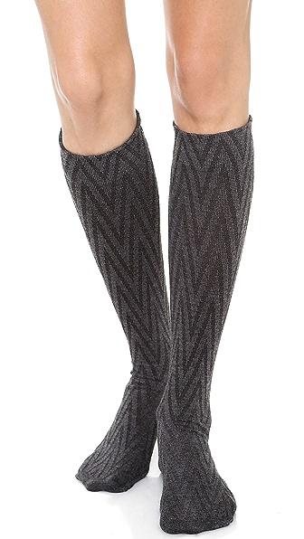 SPANX Well Heeled! Chevron Sweater Knee Socks