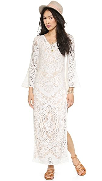 SPELL White Dove Vintage Lace Maxi Dress