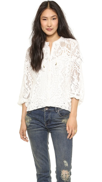 SPELL White Dove Vintage Lace Blouse