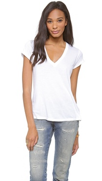 Splendid Very Light Jersey V Neck Tee
