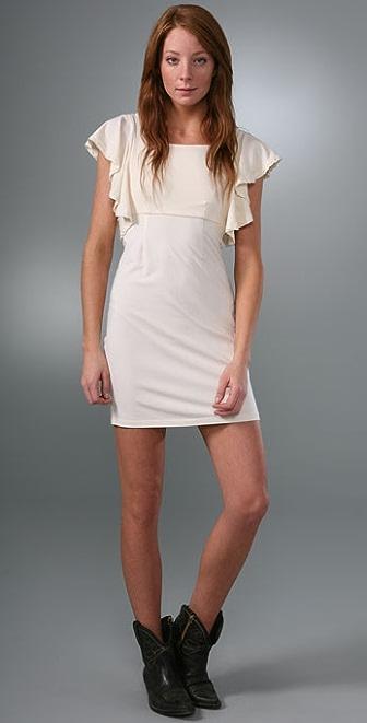 Splendid Modal Jersey Flutter Sleeve Dress