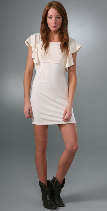 Splendid Modal Jersey Flutter Sleeve Dress