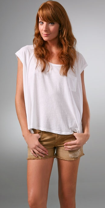 Splendid Vintage Whisper Pocket Tee