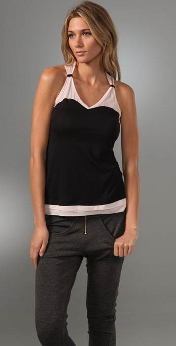 Splendid Sheer/Opaque Knits Racer Back Tank