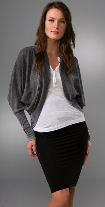 Splendid Distressed Thermal Cardigan