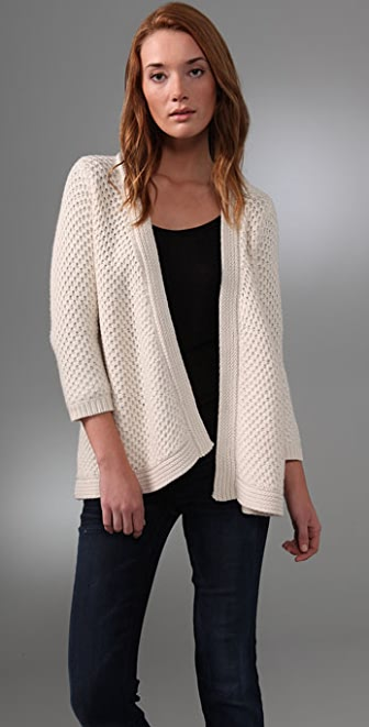 Splendid Chunky Stitch Open Cardigan