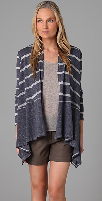 Splendid Loose Knit Stripe Cardigan