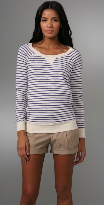Splendid Nautical Stripe Active Long Sleeve Top