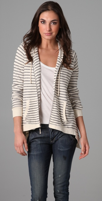 Splendid Nautical Stripe Active Hoodie