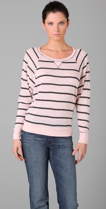Splendid Charcoal Striped Top