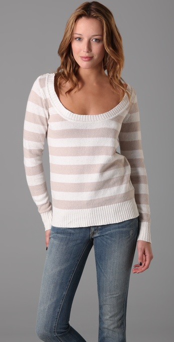 Splendid Linen Slub Stripe Sweater