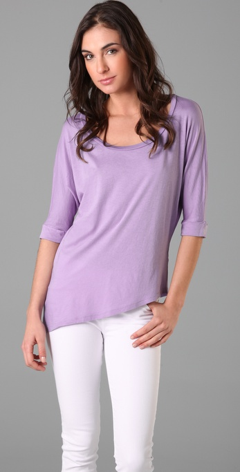 Splendid Very Light Jersey Asymmetrical Tee