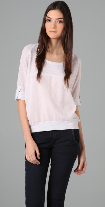Splendid Mini Shadow Stripe Dolman Tee
