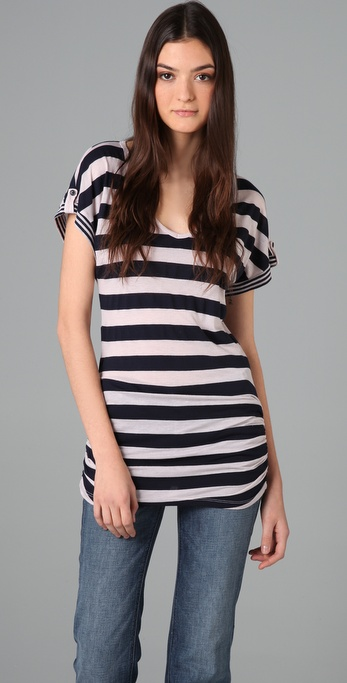Splendid Mixed Rugby Stripe Tunic